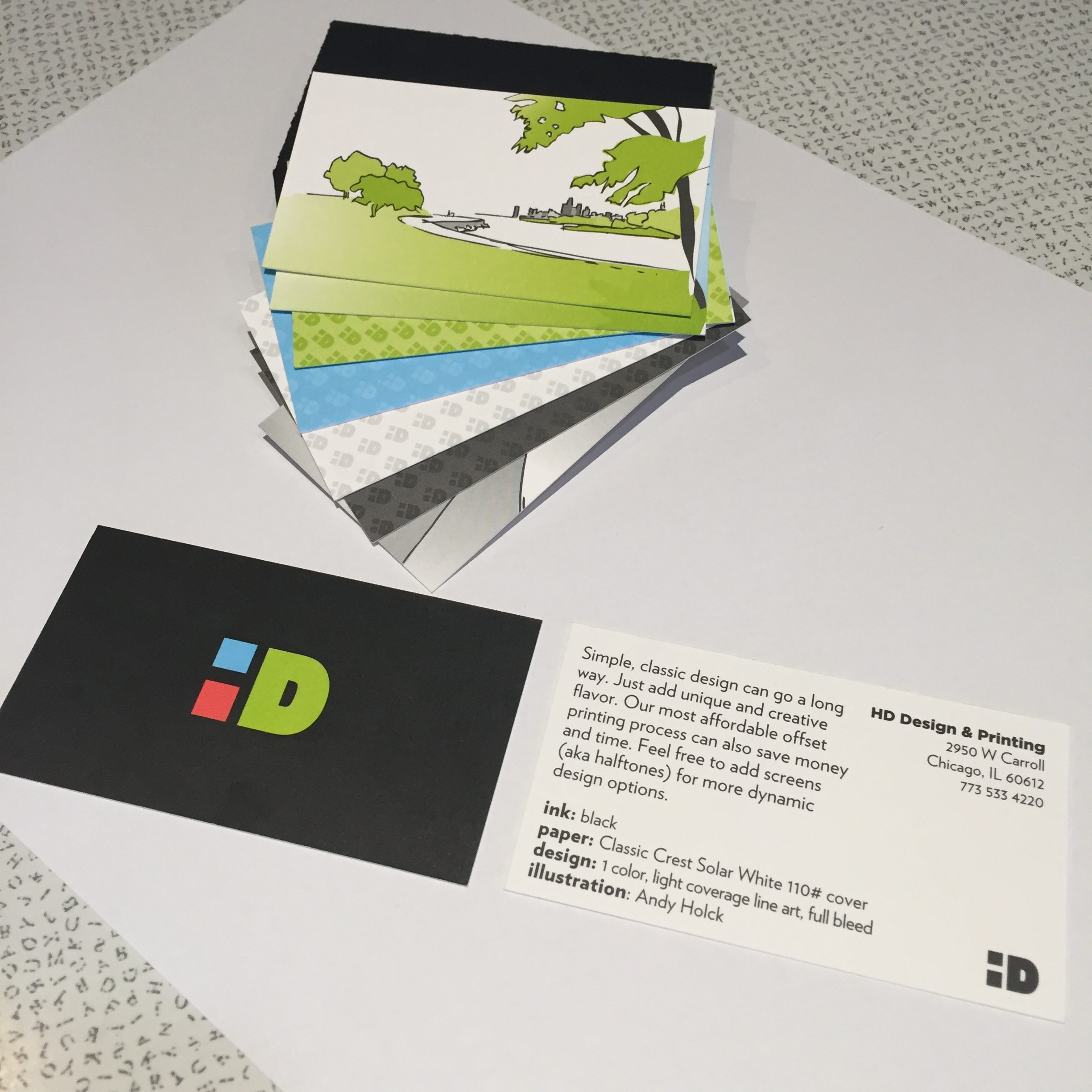 hd design printing llc – business card samples